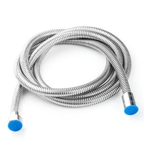 Tubo doccia Tubo flessibile in acciaio inossidabile Tubo flessibile lungo 2 m Sostituzione con connettore da 1/2 pollice per soffione doccia a mano per bagno di casa