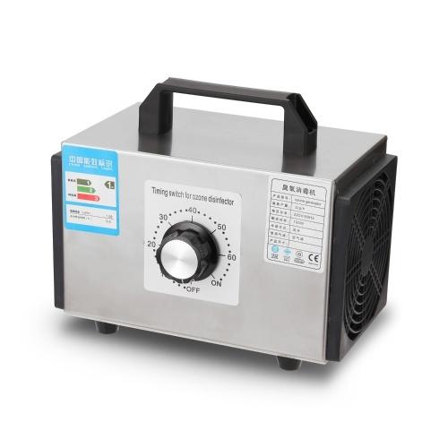 Generatore di ozono per uso domestico Pro Macchina per ozono Depuratore d'aria in acciaio inossidabile Depuratore d'aria Disinfezione Attrezzatura per sterilizzazione 32 g / h