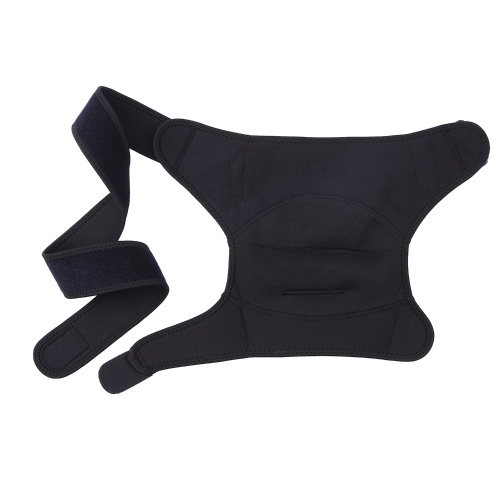 Orthèse d'épaule réglable pour hommes et femmes Support de manchette de rotateur Brace Manchon de compression d'épaule avec coussin de pression pour le soulagement de la douleur à l'épaule pour les luxations articulaires AC gauche noir