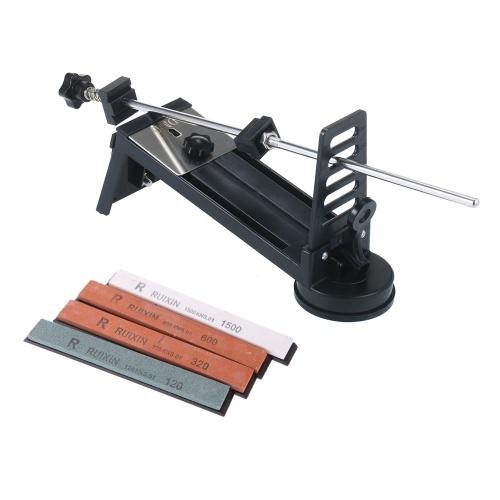 固定角度ナイフ研ぎ器キットナイフグラインダープロフェッショナルファインミディアムコース4研ぎ石120#320#600#1500#ナイフはさみ用