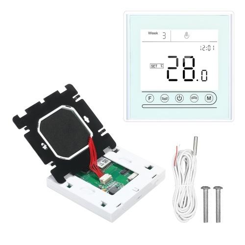 Tuya WiFi Smart Thermostat Programmierbarer Temperaturregler für elektrische Heizung Kompatibel mit Alexa Google Home Touchscreen mit Hintergrundbeleuchtung