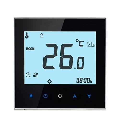 Home Programmable Thermostat with WiFi for Water Heating System Smart Touchscreen Heat Only Thermostat
