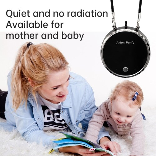 USB Portable Wearable Air Purifier Mini Air Necklace Air Freshener Necklace