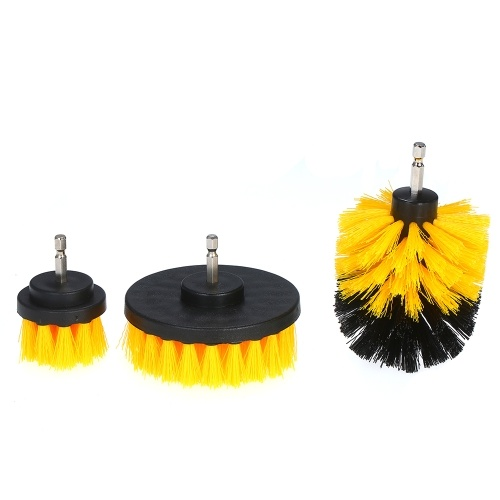 3Pcs Electric Drill Brush Power Srubber Attachments Household Cleaning Brush for Grout Floor Tub Shower Head Tile Bathroom and Kitchen Surface