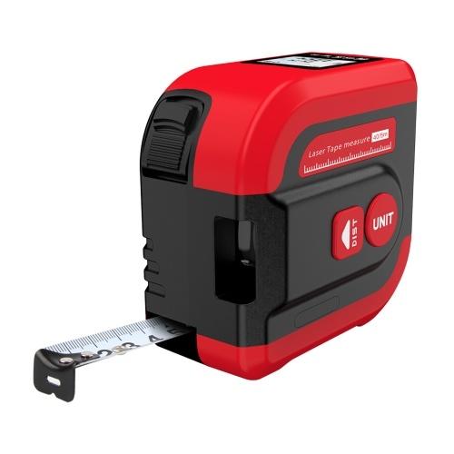 2-in-1-Digitalmessband 131ft Laser-Entfernungsmesser Auto Lock 16ft Bandmess-Entfernungsbereich Volumen für Bauunternehmer Makler Heimgebrauch