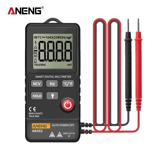 ANENG AN303 Digital Multimeter 4000 Count LCD Display Automatic Range Universal Meter