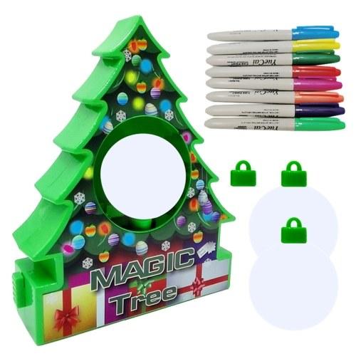 Weihnachtsbaum Ornament Dekorieren Kit Weiße Kugeln Malen Handwerk Weihnachtsdekoration für Kinder 2 Arten Optional