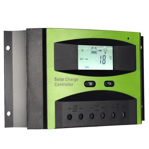 30А 12В/24В контроллер заряда PWM зарядки температура компенсации перегрузки защиты LCD дисплей для солнечной системы-решетки