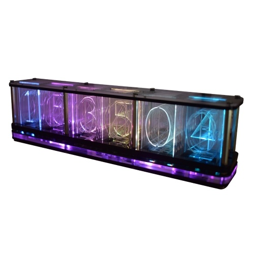 DS3231 Digital LED Alarm Clock Kit Large Font 6-digit Display Electronic Clock Semi-finished Music Spectrum Display Clock Module Multifunctional DIY Clock Featuring Time / Temperature / Date / Week / Alarm / Countdown / Voice Wake-Up / Touch-Operation
