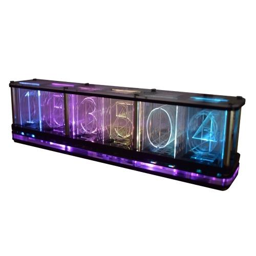 DS3231 Kit de reloj despertador LED digital Fuente grande Pantalla de 6 dígitos Reloj electrónico Módulo de reloj con pantalla de espectro musical semiacabado Reloj de bricolaje multifuncional con hora / temperatura / fecha / semana / alarma / cuenta regresiva / activación por voz / operación táctil