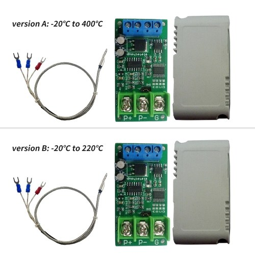 3-wire PT100 RTD Thermocouple Temperature Sensor Module Digital Temperature Measure Ranging from -20℃ to 400℃