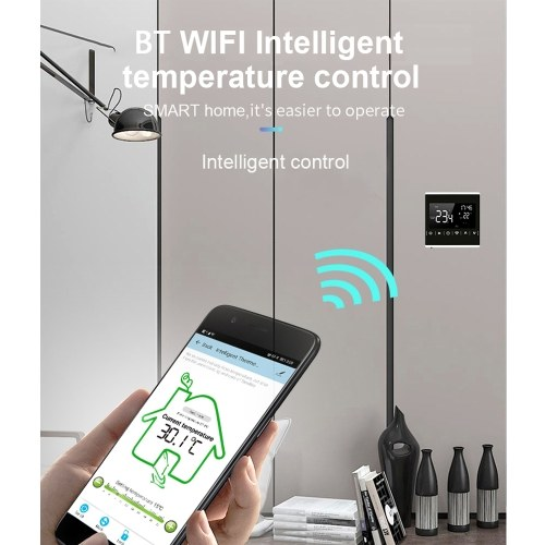 MEIH 85-250V Wi-Fi Smart Thermostat Weekly Programmable Thermostat APP Control Backlight LCD Electric Floor Heating Temperature Controller Overheat Pr