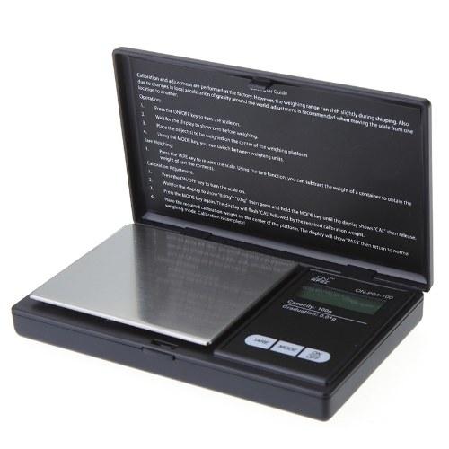 Bilancia da cucina digitale portatile Strumento di misurazione del peso in oro 100 / 0,01G Bilancia elettronica tascabile LCD