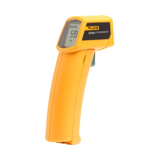 FLUKE 59 Infrarot-Thermometer Mini-IR-Thermometer Digitaler Handtemperatur-Tester 8: 1 Laserthermometer-Pistole Digitales IR-Temperaturmessgerät -18 ~ 275 ℃ (0 ~ 525 ℉)