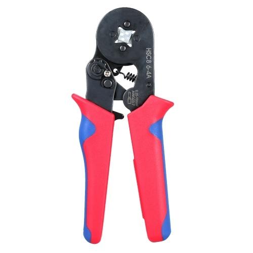フェルール圧着工具0.25〜10mm²(23〜7AWG)フェルールクリンパープライヤー絶縁非絶縁ワイヤフェルール用の自動調整可能なラチェットワイヤ圧着工具