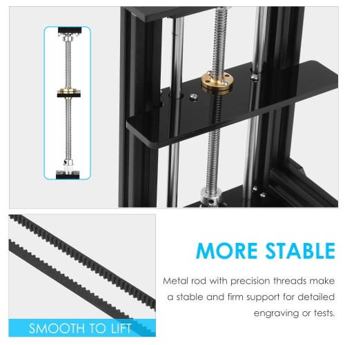 Lifting Platform Stand Lab Lifter Vertical Lifting with Adjustable Height Within 8 inch for Engraving Machine Experiments DIY Handwork Carving(K/D)