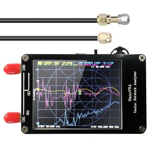 ポータブルハンドヘルドベクトルネットワークアナライザー50KHz-900MHzデジタルディスプレイタッチスクリーン短波MFHF VHFUHFアンテナアナライザー定在波