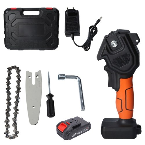 4 Inch Mini Chainsaw Cordless Pruning Saw Portable Electric High-Power Saw