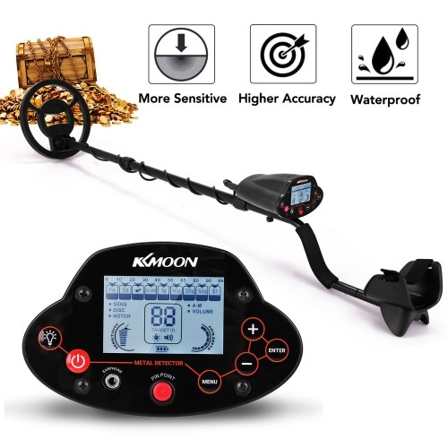 KKmoon MD-5040 8.7 Inch Waterproof Search Coil Digital Display Screen Handheld Portable Metal Detector Easy Installation High Sensitivity High Accuracy Metal Detecting Tool Treasure Gold Metal Finder Gift Present for Adults and Kids