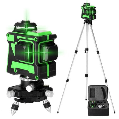 KKmoon Multifunctional 3D 12 Lines Self-leveling Laser Level (without wall-mounted bracket)
