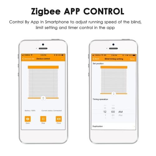Solar Powered Zigbee Control Smart Blinds Drive Motor Tuya Motorized Chain Roller Voice Control Shad