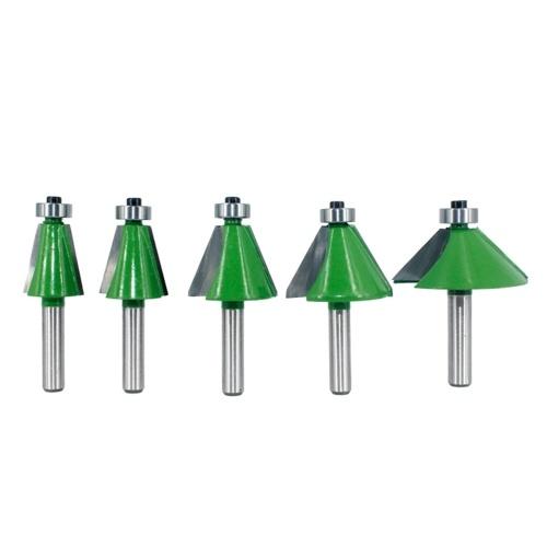 5個V字型面取りカッターセット90度8MM八角形シャンク面取り11.25°/ 15°/ 22.5°/ 30°/ 45°ウッドルータービットウッドメタルドリル皿穴ビット木工用フライストリミングトリミング彫刻ビット