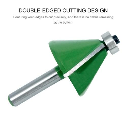 5Pcs V-shaped Chamfer Cutter Set 90 Degree 8MM Octagonal Shank Chamfer 11.25°/15°/22.5°/30°/45° Wood Router Bits Wood Metal Drilling Countersink Bits