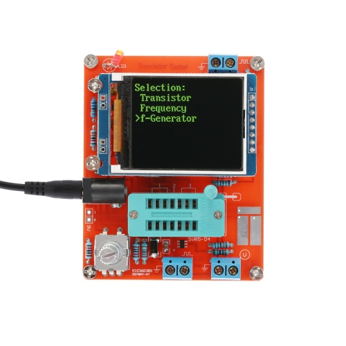 Multifunzione LCD GM328 Transistor Tester diodo di capacità ESR Tensione Misuratore di frequenza PWM onda quadra Signal Generator