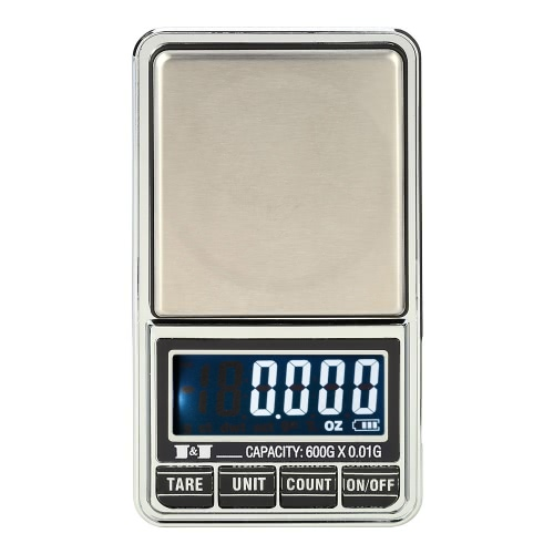 KKmoon Professional Mini Digital Scale Jewelry Electronic Pocket Scale Precision Balance 600g*0.01g / 1000g*0.1g
