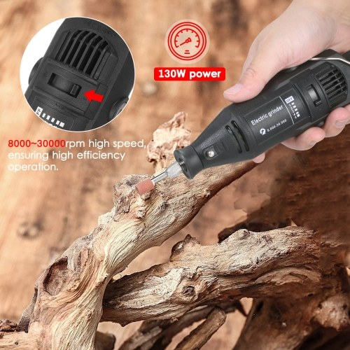 KKmoon Handheld Chainsaw Sharpener Portable Chain Grinder Electric Saw Electric Grinding Tool Sharpener Set with Grinding Head + Angle Guide 220V EU Plug