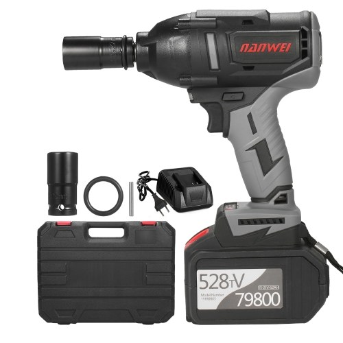 Cordless Impact Wrench 600Nm High Torque Brushless Motor 1/2 Inch Quick Chuck...