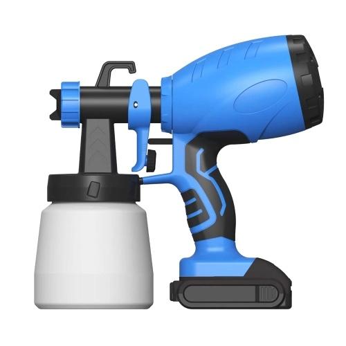 KKmoon 120 Вт 800 мл Беспроводной опрыскиватель для краски Высокая мощность HVLP Распылитель для латексной краски Аэрозольный стерилизатор Распылитель с соплом 2,5 мм Литиевая батарея 2,0 Ач для покраски дома Шкафы для самостоятельной работы Палубы Мебель