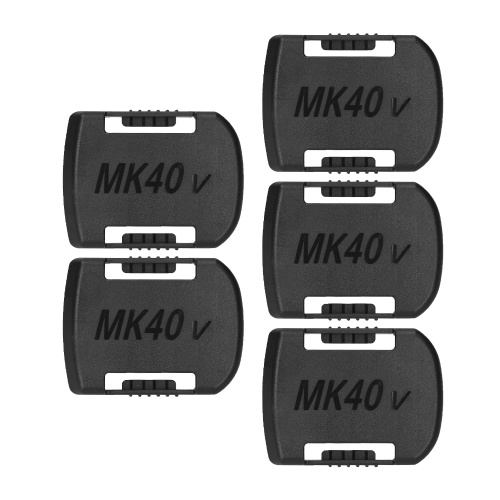 KKmoon 5 PCS Battery Mount Replacement for Makita 40V Lithium Battery Wall Clip Belt-Type Battery Organizer Holder for Lithium Batteries Wall Mount Display