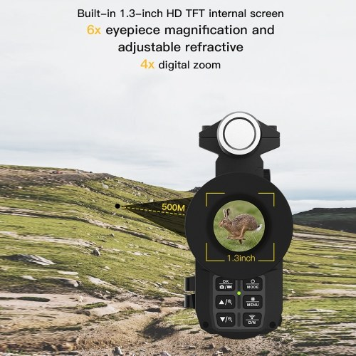 NV3000 1.3 Inch TFT Display Screen Infrared Digital Night V-ision Device Day and Night Useable WiFi Monocular Night V-ision IP54 Waterproof