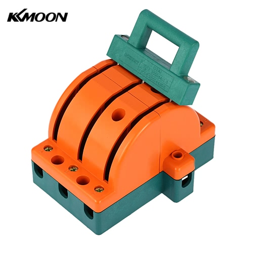 KKmoon 32A Double-throw 3-Pole Disconnect Knife Switch Circuit Breaker Backup Generator for Industrial Household Use