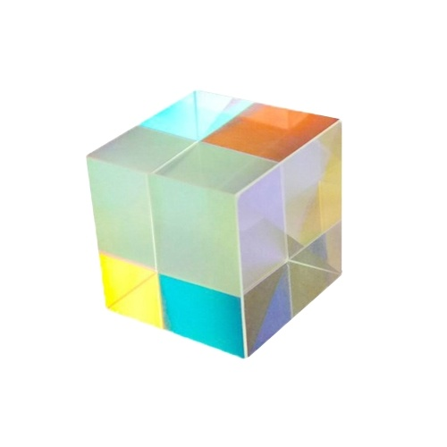 KKmoon X-Cube RGB Splitter Combiner Dispersion Optical K9 Prism Six-Sided Bright Light Stained Glass Prism 15*15*15mm