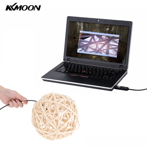 KKmoon 5.5mm 1m 2 in 1 Micro USB Endoscope 6 LED Adjustable Brightness Waterproof Borescope Inspection Camera for Android Phones PC