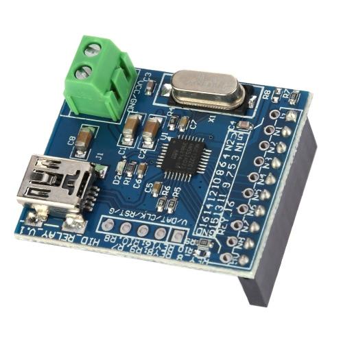 8 canais Controlador Mini USB HID programável de controlo Módulo de Relé