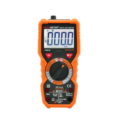 PEAKMETER PM18 True RMS Multifunktions-Digital-Multimeter