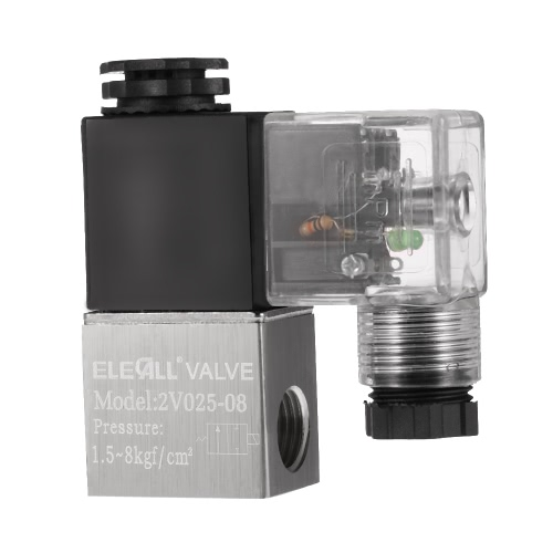 2V025-08 PT1/4 2 Position 2 Way DC12V Pneumatic Solenoid Valve Normally Closed Electric Air Valve