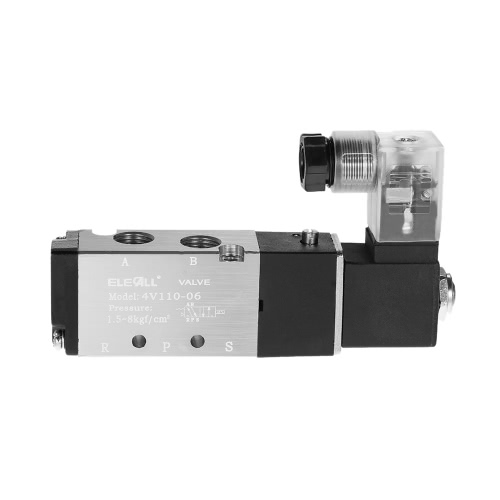 4V110-06 PT1/8 2 Position 5 Way Pneumatic Solenoid Valve Electric Air Valve AC220V with Wire