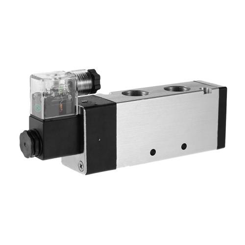 4V410-15 PT1 / 2 2 Posição 5 Way AC220V pneumática válvula solenóide elétrica válvula de ar