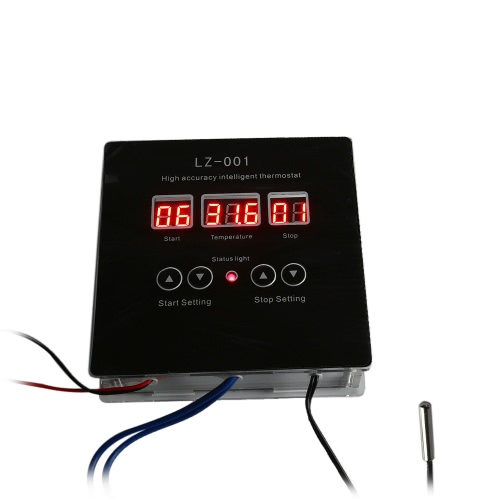 DC12V High-accuracy Intelligent Digital Thermostat DIY Kit -9°C~99°C Temperature Controller Heating Cooling Control