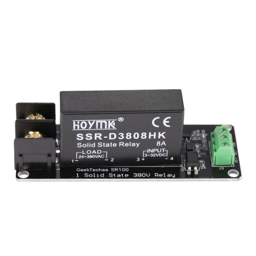 1-channel High/Low Level Trigger 380V 8A Solid State Relay Module Board