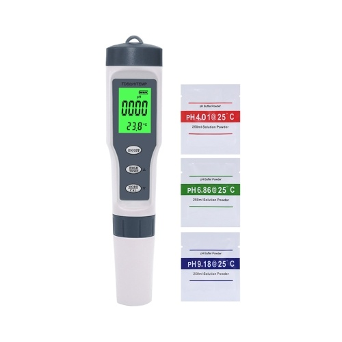 TDS Meter 3-in-1 Digital TDS Tester Pen with PH TDS Temperature Measurement High Accuracy 1-19999ppm & 0-14 PH Range (with backlight)