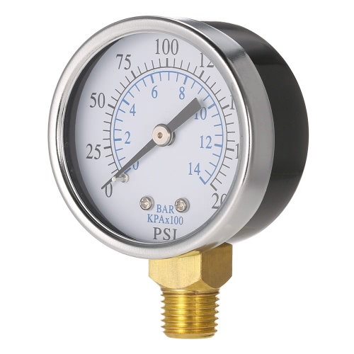 0 50 mm 0 ~ 200 psi ~ 14bar Pool Filter Wasserdruck Dial Hydraulische Manometer Meter Manometer 1/4
