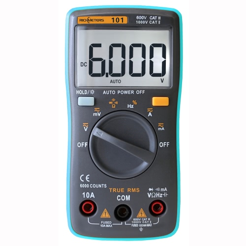 RICHMETERS RM101 True RMS Multifunctional LCD Digital Multimeter