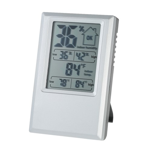°C/°F Digital Thermometer Hygrometer Indoor Temperature Humidity Meter Max Min Value Comfort Level Display