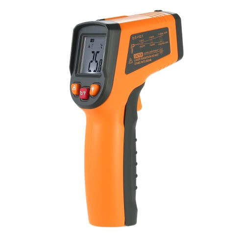 Meterk -50~400°C 12:1 Portable Handheld Digital LCD Non-contact IR Infrared Thermometer Temperature Measurement Pyrometer with Backlight