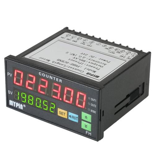 Mypin Multi-funcional inteligente 24V DC predefinida 6 Digital contador Comprimento Contador metro de comprimento relé de saída PNP NPN